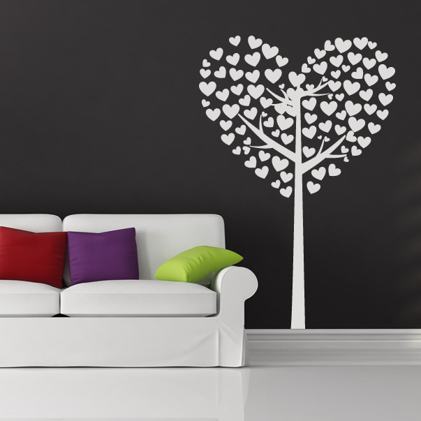 Wall Art Love Heart : Love heart tree valentines wall art sticker transfers