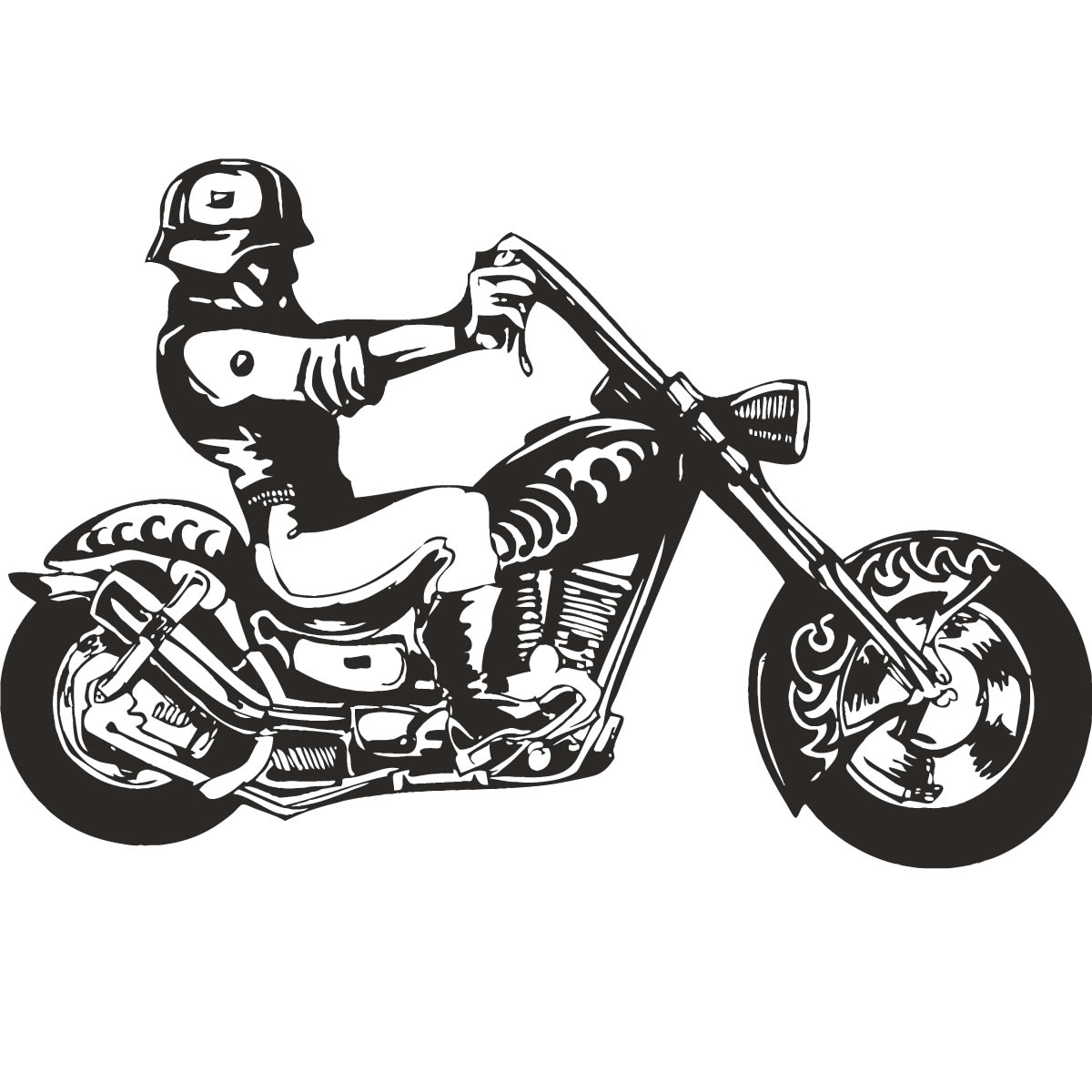 Hells Angel Biker Motorbike Wall Art Decal Wall Stickers Transfers ...