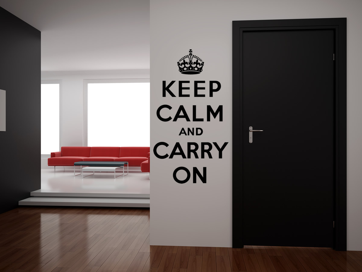Keep Calm And Carry On Quote Wall Quotes Wall Art Decal