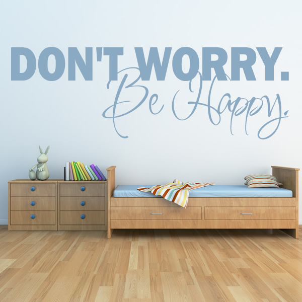 Happy Wall Stickers Life Inspirational Wall Art Decal Transfers EBay
