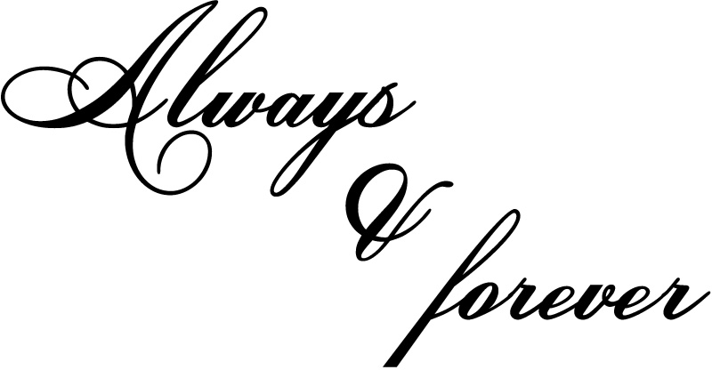 Always And Forever Wall Sticker Love Quotes Wall Quotes