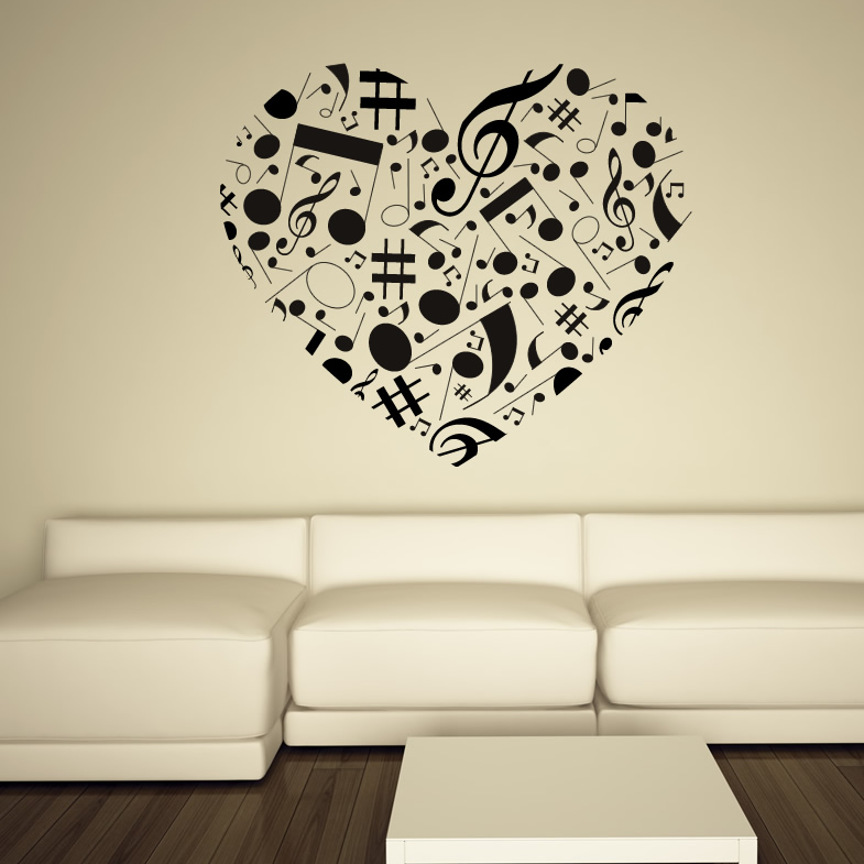 pics photos musical notes wall decals turn up the music wall decals the awesomer