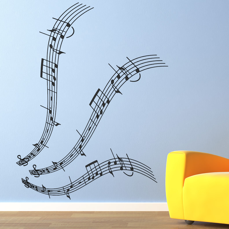 Musical Notes Music Wall Art Decals Wall Stickers