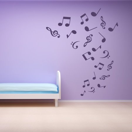 tornado of musical notes music wall stickers wall art. Black Bedroom Furniture Sets. Home Design Ideas