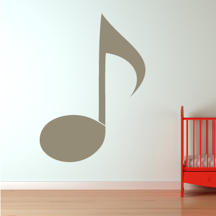 quaver musical notes music wall stickers wall art decal. Black Bedroom Furniture Sets. Home Design Ideas