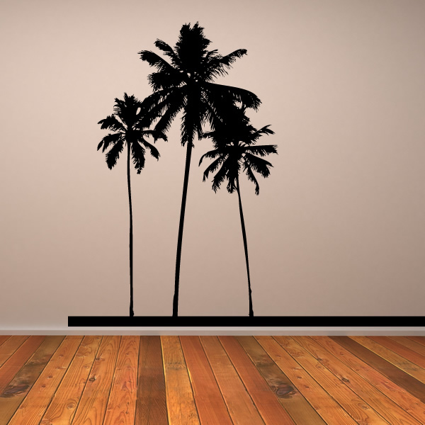 palm tree trees wall stickers wall art decal transfers. Black Bedroom Furniture Sets. Home Design Ideas