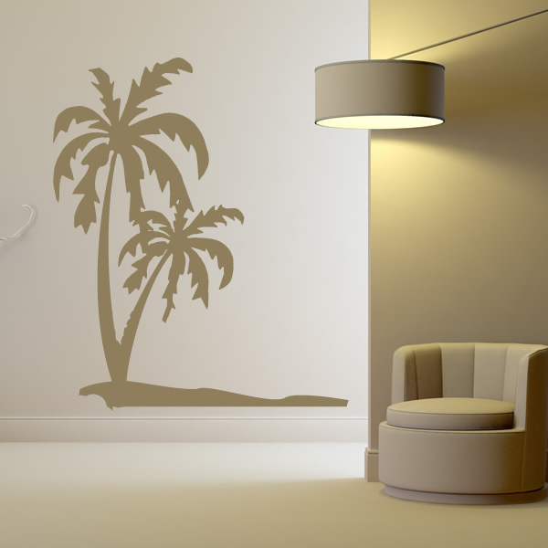 Beach Wall Decals Palm Trees On The Beach Sand Wall Art Decals Wall Stickers