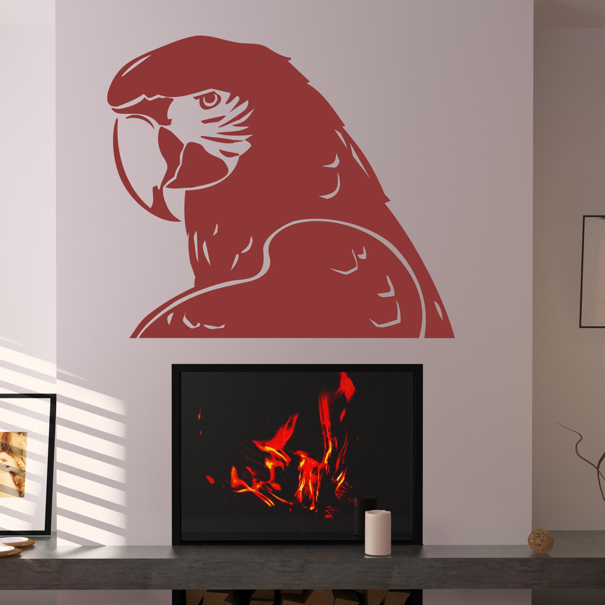 Branch bird cage wall art sticker vinyl wall decals wall for Bird wall art
