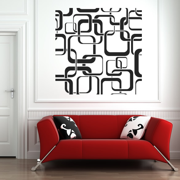Square Patterns Wall Stickers Wall Art Decal Transfers eBay