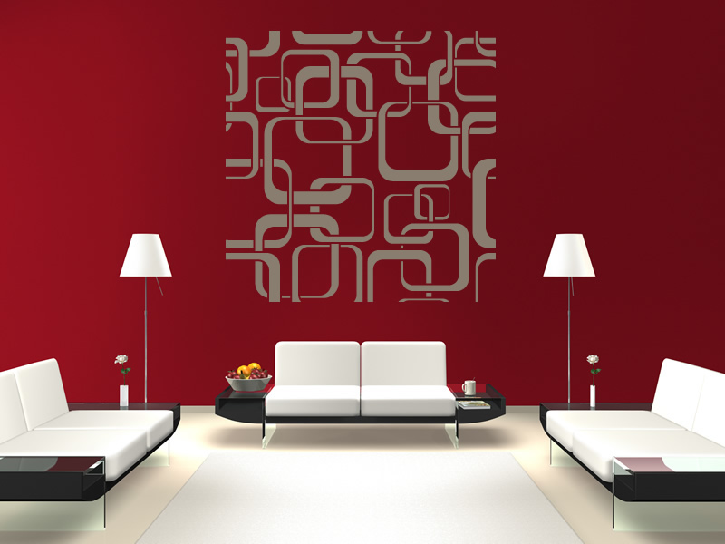Wall art stickers patterns : Square patterns wall stickers art decal transfers
