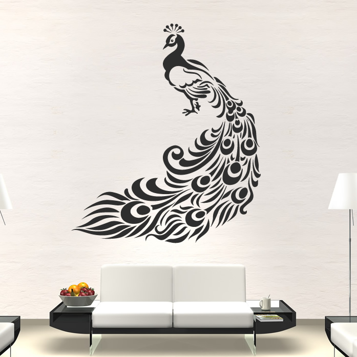 Wall Stickers Decoration Artistic About Peacock Bird Animal Wall Art Stickers Wall Decal Transfers