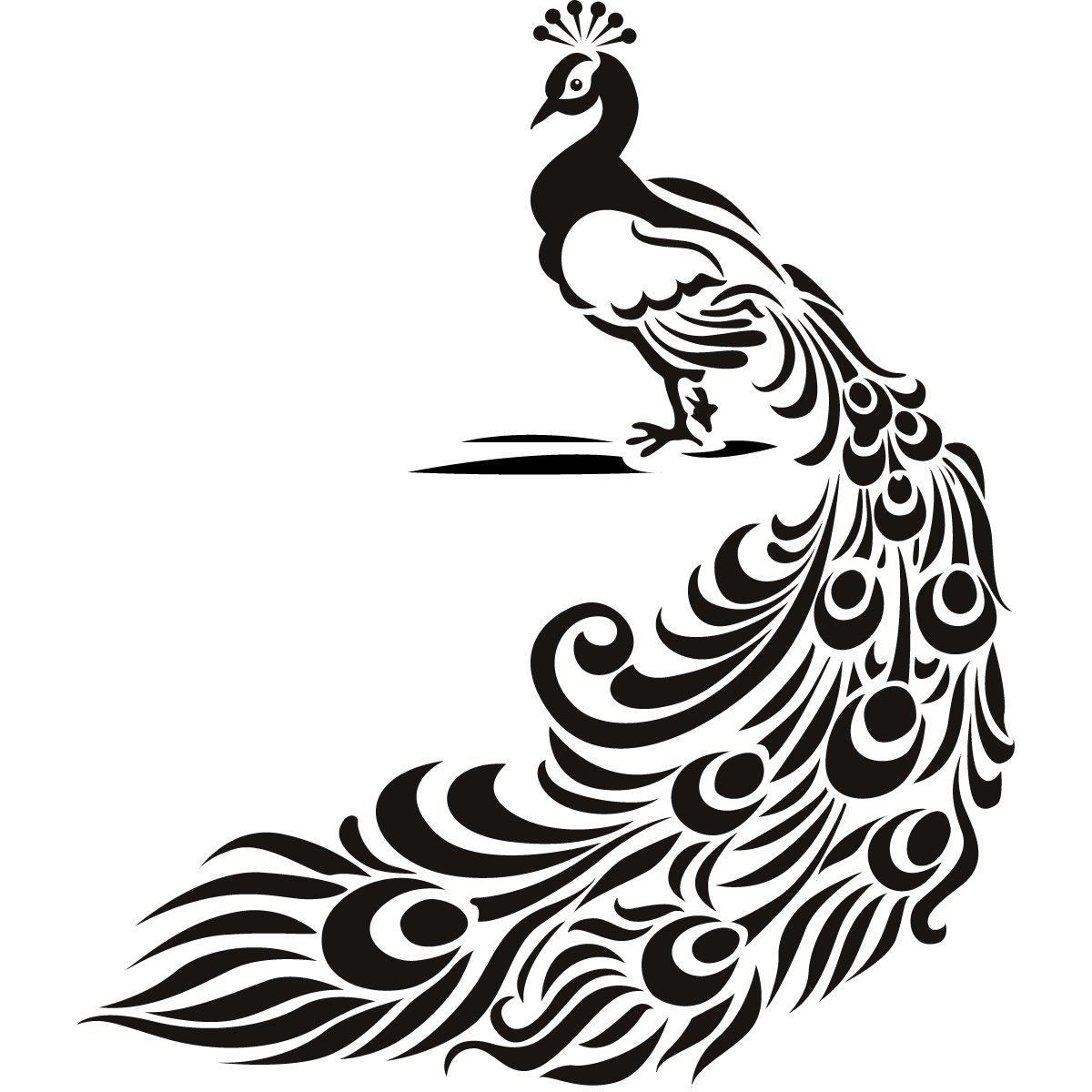 Peacock bird animal wall art stickers wall decal transfers