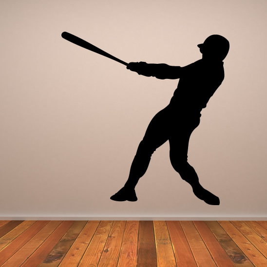 Baseball Player Wall Stickers Ball Sports And Hobbies Wall Art Decal ...