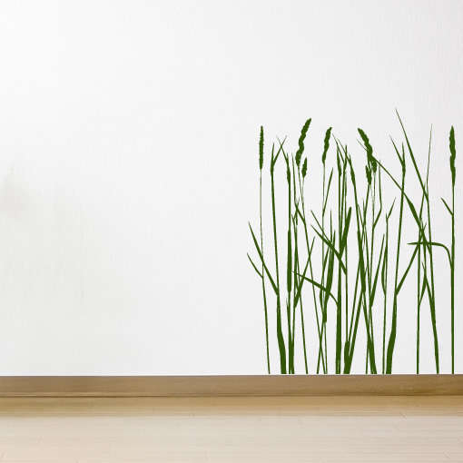 Rushes Long Grass Flowers Wall Stickers Wall Art Decal