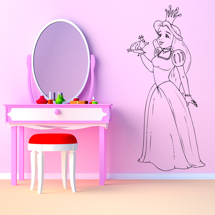 princess and the frog kids wall art sticker wall decal transfers