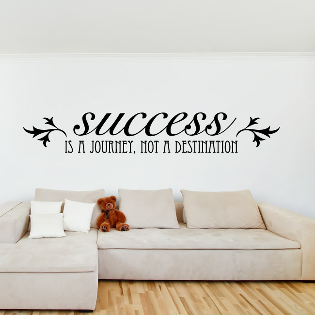 success is a journey not a destination quote decal wall