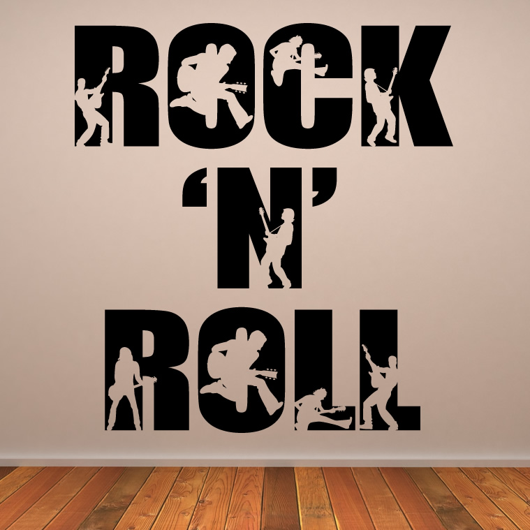 rock n roll pared arte calcoman 237 as traslados pegatinas de the wall art shop wall stickers photo wallpapers glass
