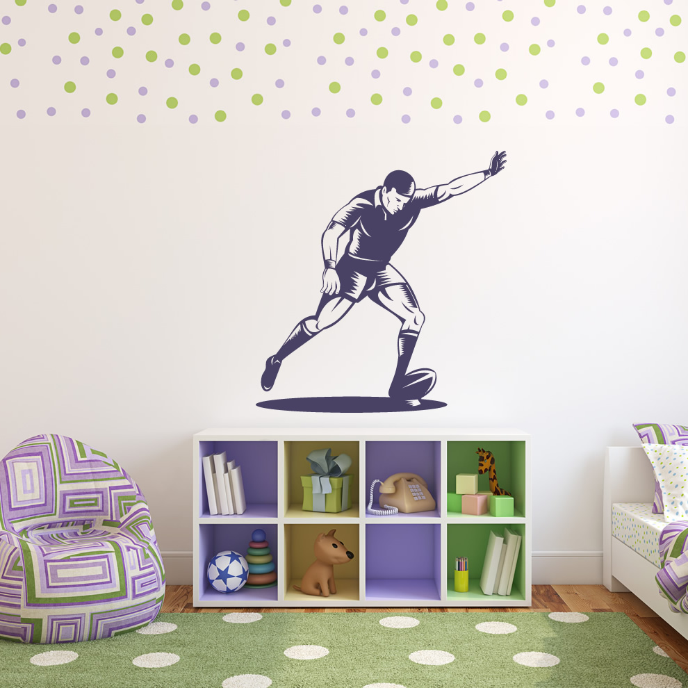 Rugby Kick Sports and Hobbies Wall Art Stickers Wall Decal Transfers | eBay
