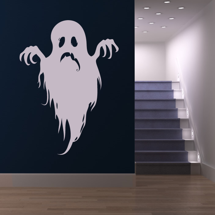 Scary Ghost Halloween Wall Art Stickers Wall Decal - Scary Halloween Wall Decor