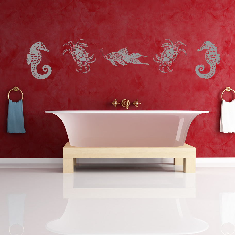 sea life collection wall art sticker wall decal transfers