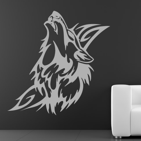 art tribal stickers wall Wall Wall Stickers Wolf about Art Tribal Animals Transfers Decals