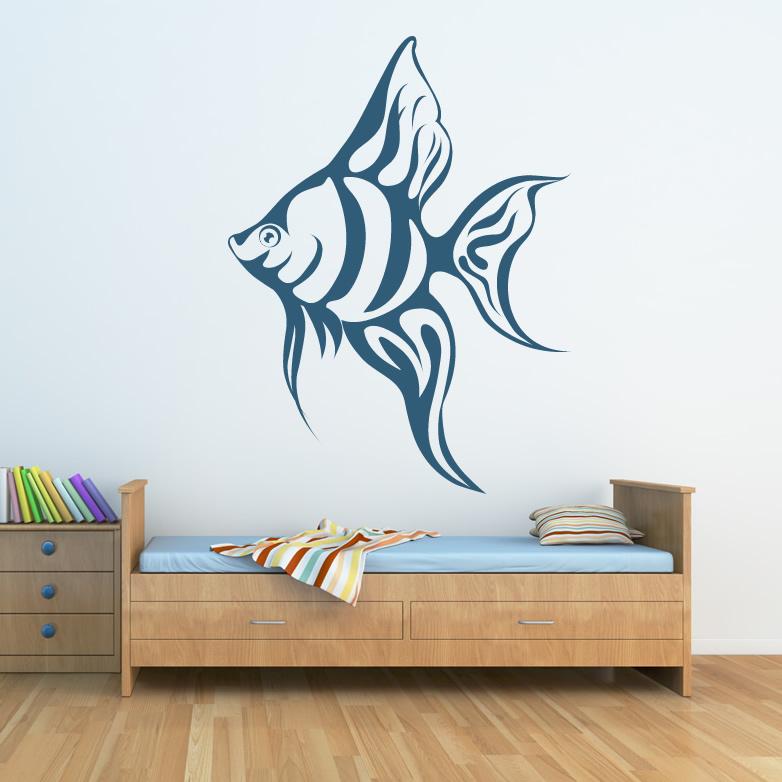 Tropical fish wall decals wall decals complete for Fish wall decor