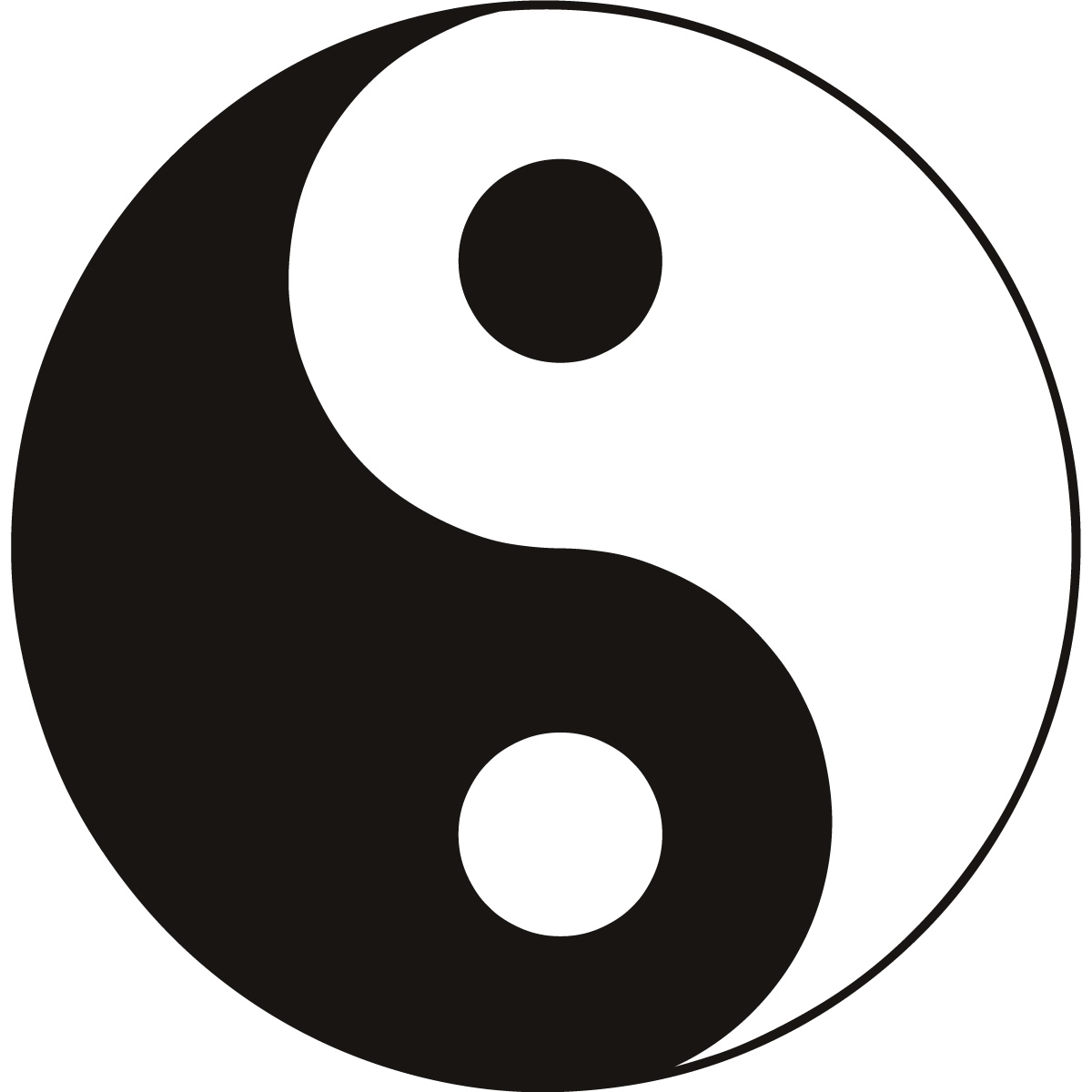 Ying Yang Symbol Sign Wall Art Stickers Wall Decal Transfers