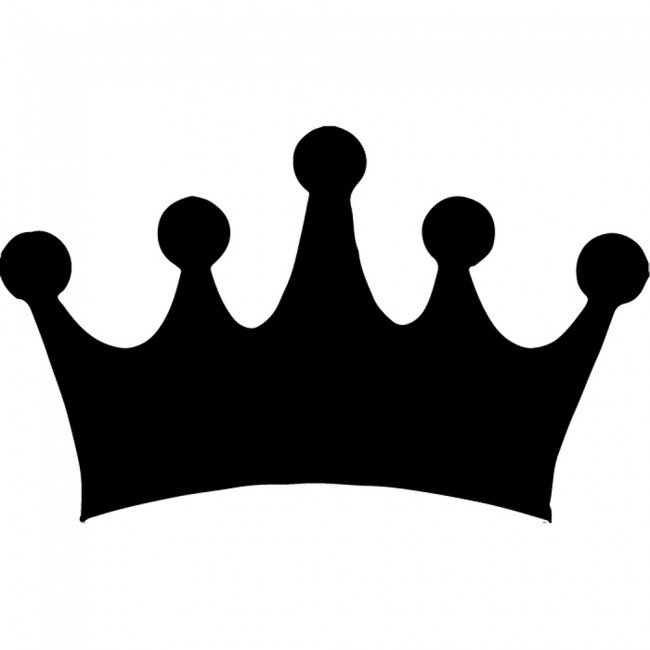 Simple Crown Silhouette Wall Sticker Creative Multi Pack